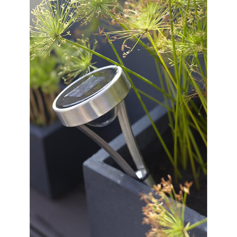 lot de 3 balises solaire so25 25 lm inox xanlite leroy merlin. Black Bedroom Furniture Sets. Home Design Ideas