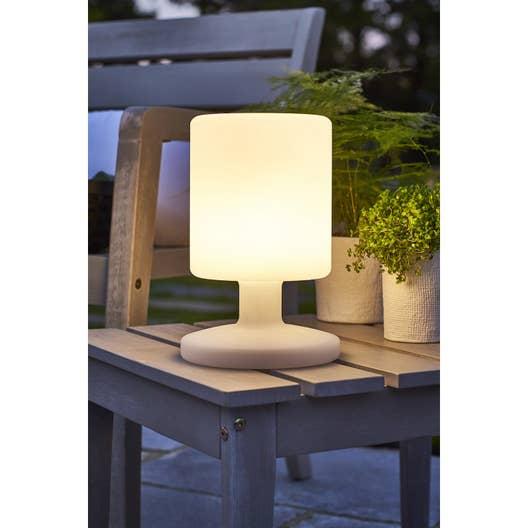 lampe de table ext rieure led int gr e 5 w 130 lm blanc leroy merlin. Black Bedroom Furniture Sets. Home Design Ideas
