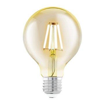 Ampoule Décorative Led Ambré Globe 80 Mm E27 330 Lm 40 W Eglo