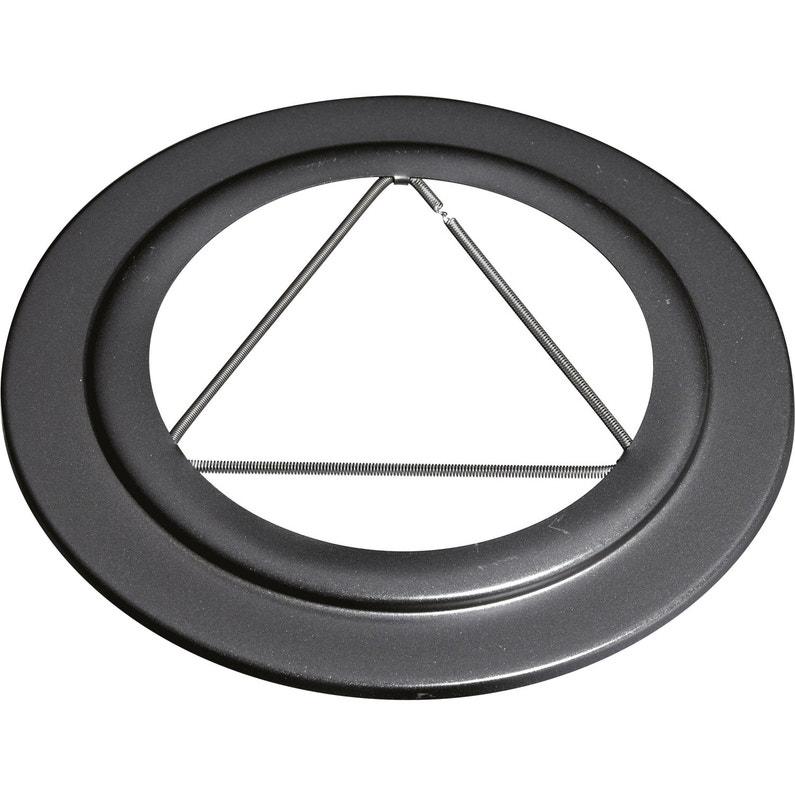 Rosace Pour Raccordement Isotip Joncoux Diam80 Mm Noir Mat