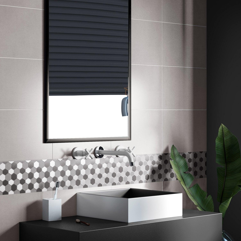 fa ence mur gris smart x cm leroy merlin. Black Bedroom Furniture Sets. Home Design Ideas
