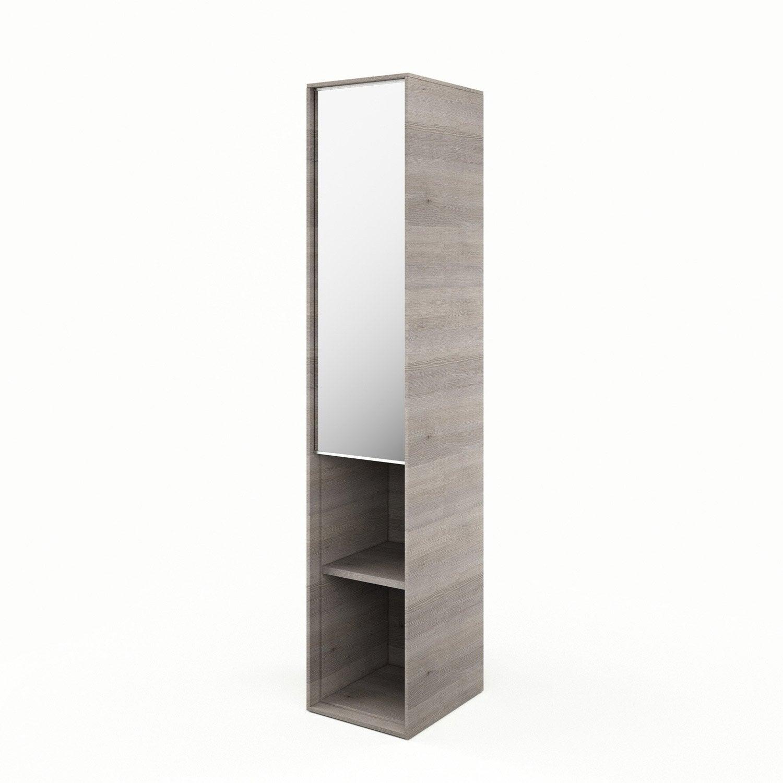 Colonne Neo Leroy Merlin colonne l.30 x h.154 x p.35 cm, imitation chêne grisé, neo frame