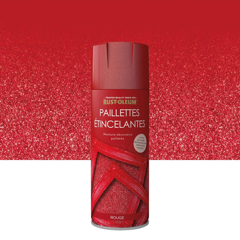 Peinture A Paillette Pour Meuble peinture aérosol paillettes brillant rustoleum, rouge, 0.4 l