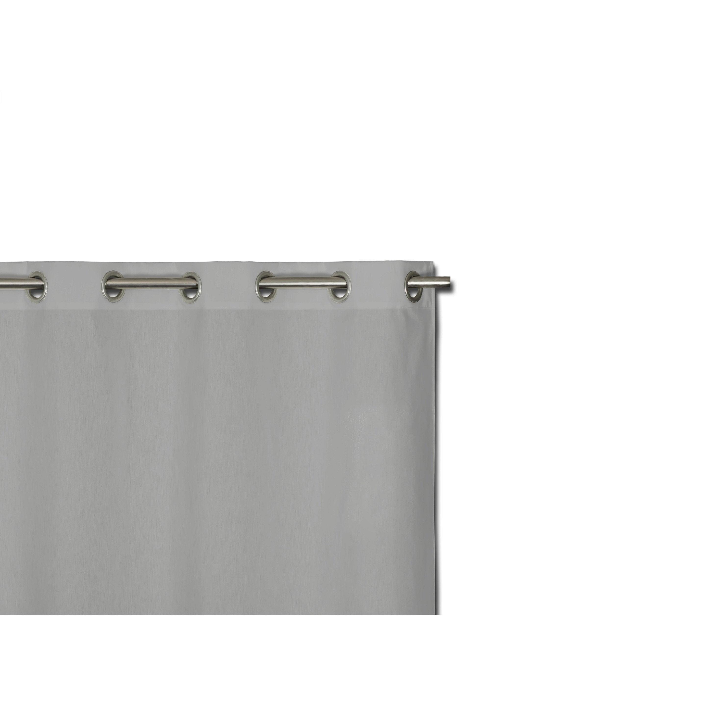 Rideau tamisant petite hauteur, Neo, gris, l.140 x H.140 cm
