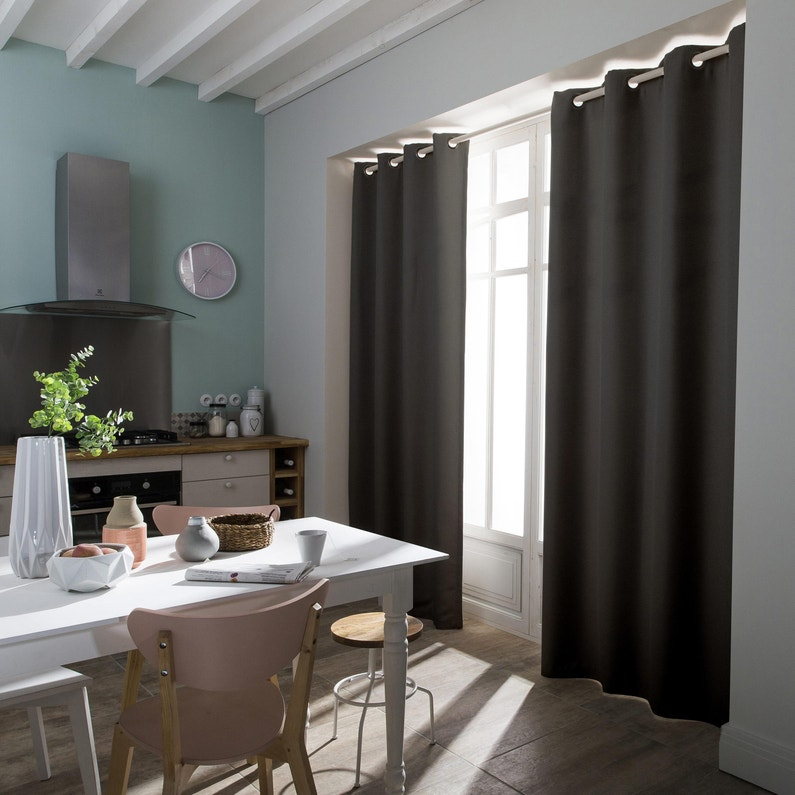 rideau obscurcissant countrybaby gris anthracite. Black Bedroom Furniture Sets. Home Design Ideas