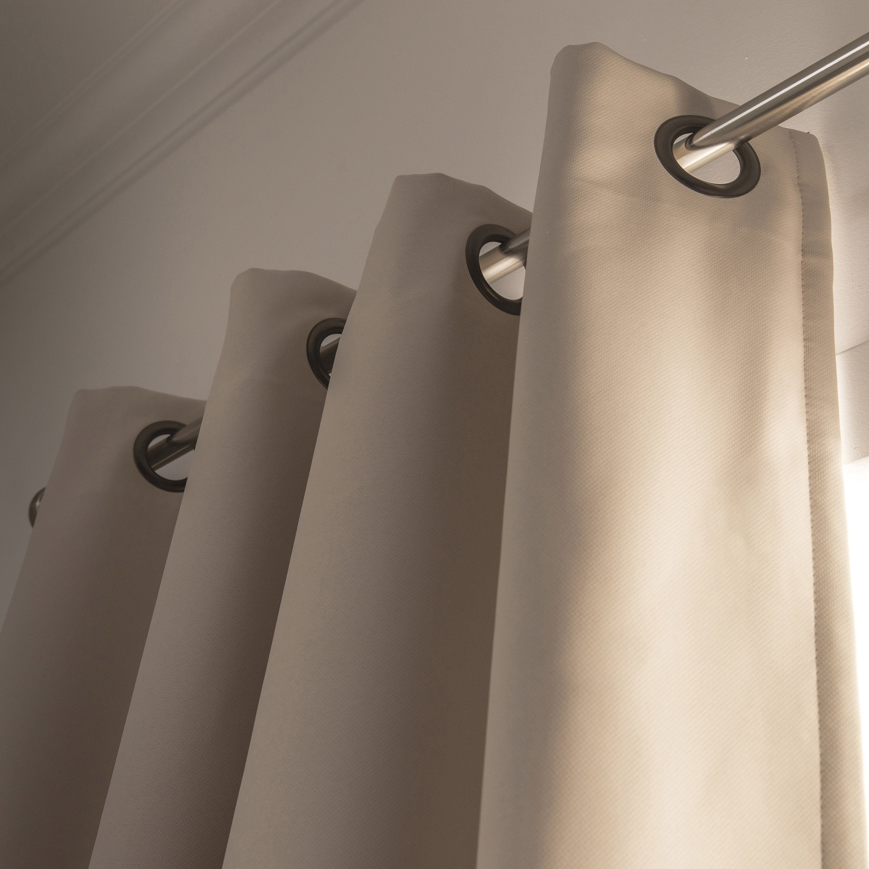 rideau occultant phonique cru x cm leroy merlin. Black Bedroom Furniture Sets. Home Design Ideas