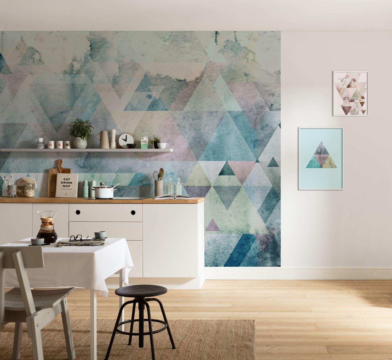 Comment Proteger Un Mur Peint dégradé de couleurs sur le mur avec le papier peint grandeur