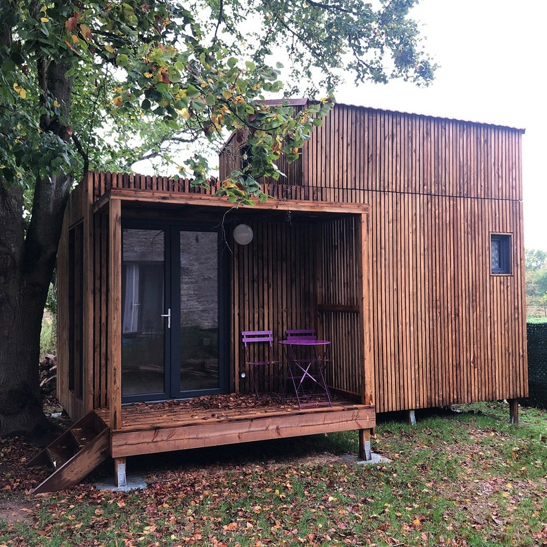 Studio De Jardin En Bois Greenkub 30m² Avec Mezzanine