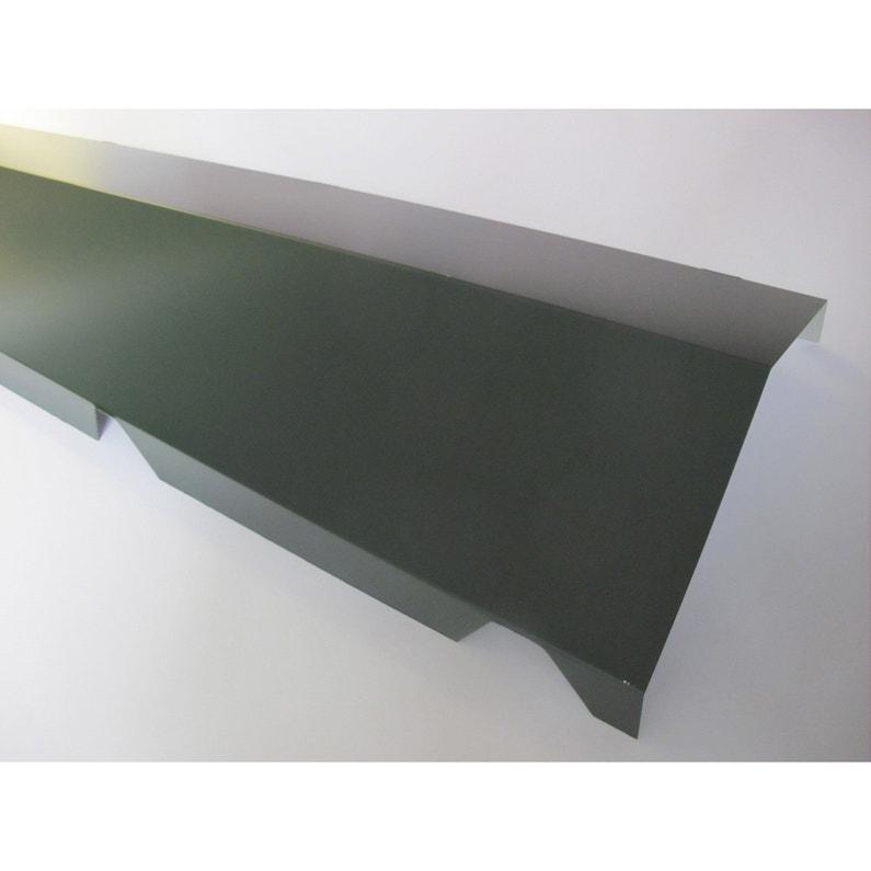 Faîtière Sur Mur Pour Plaque Nervurée 63100 Gris Ral 7016 L21 M