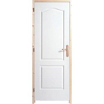 Porte int rieure bloc porte porte fin de chantier leroy merlin - Bloc porte 63 cm ...