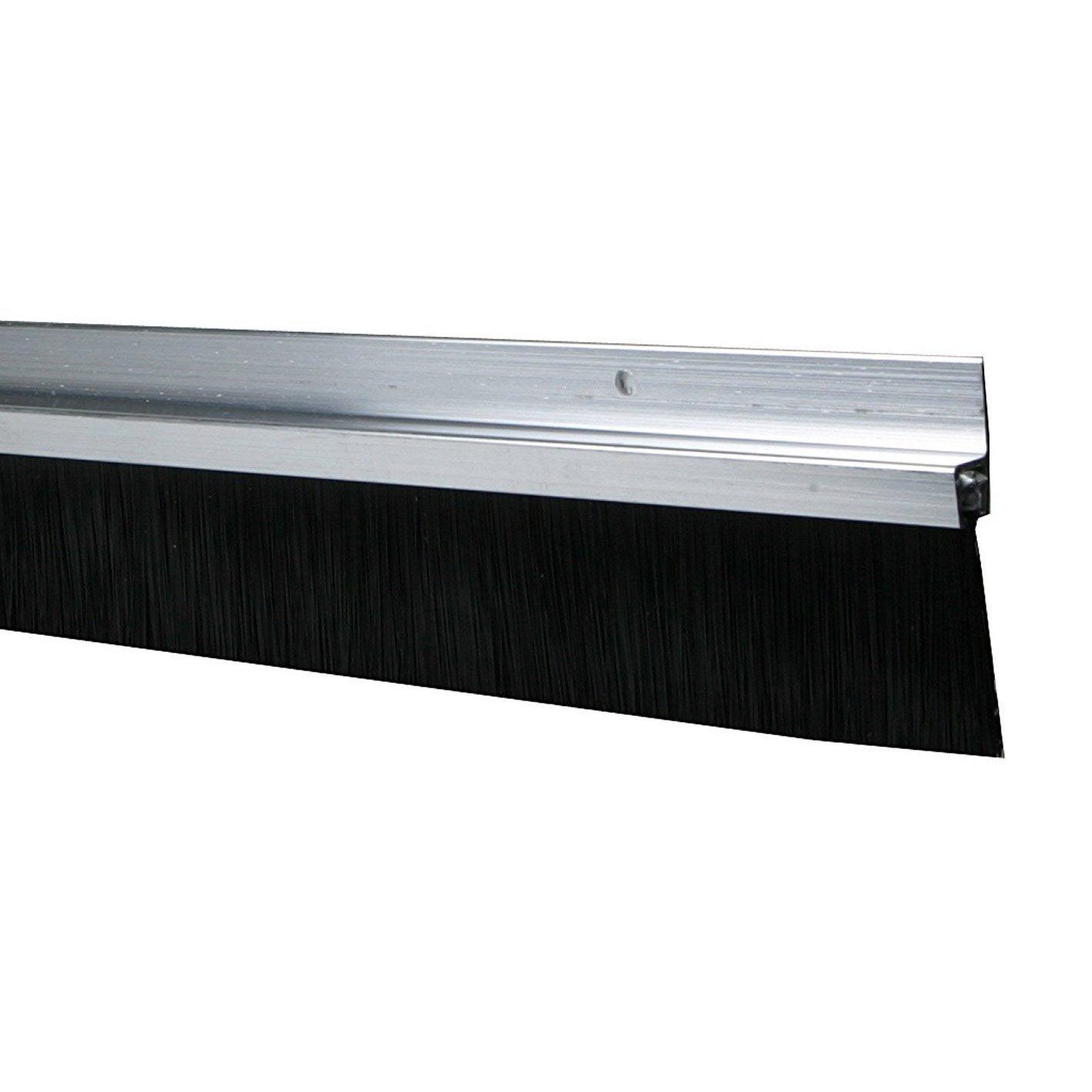 Bas de porte visser brosse axton cm aluminium - Seuil de porte alu brosse ...