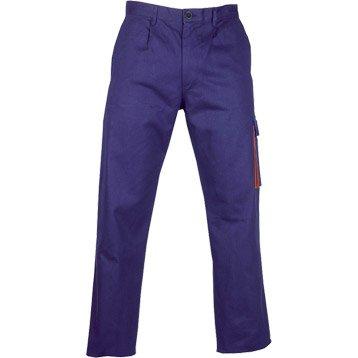 pantalon de travail basic bleu taille xl. Black Bedroom Furniture Sets. Home Design Ideas