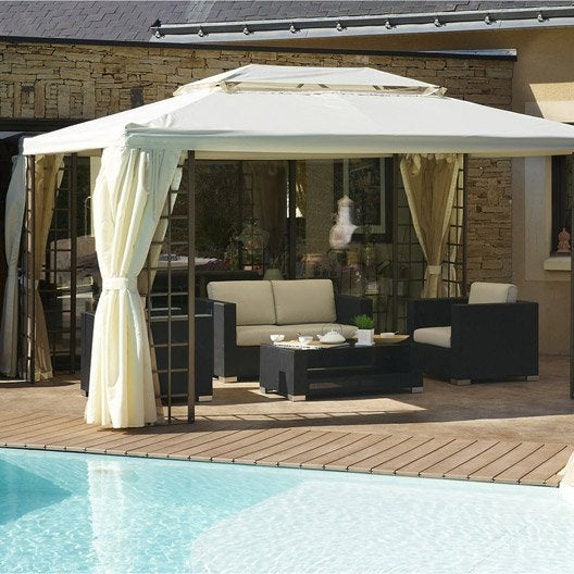 tonnelle tonnelle pergola et toiture de terrasse leroy merlin. Black Bedroom Furniture Sets. Home Design Ideas