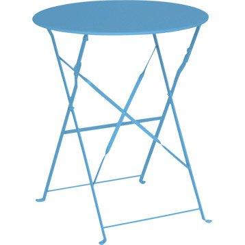 Table de jardin aluminium bois r sine au meilleur prix for Table jardin bleu