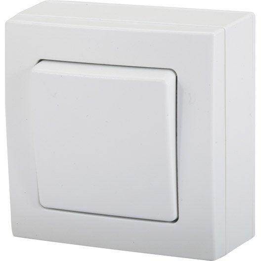 interrupteur va et vient saillie bel 39 vue blanc leroy merlin. Black Bedroom Furniture Sets. Home Design Ideas