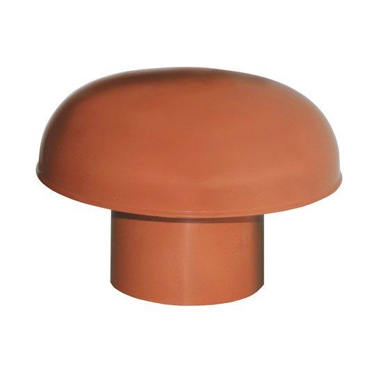 chapeau de ventilation pvc rouge tuile first plast mm leroy merlin. Black Bedroom Furniture Sets. Home Design Ideas