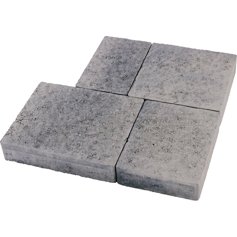 Pavé Béton Colisée Multiformat Gris Nuancé 25x15 25x20 25x25 25x30 X Ep60 Mm