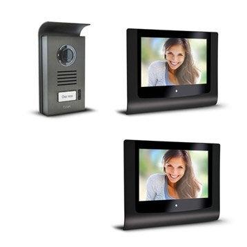 Pack visiophone 1 platine + 2 écrans filaire, EXTEL Step