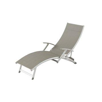 Bain de soleil transat hamac chaise longue leroy merlin for Transat gris anthracite