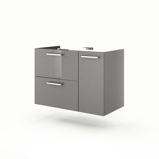 meuble sous vasque x x cm gris neo line leroy merlin. Black Bedroom Furniture Sets. Home Design Ideas