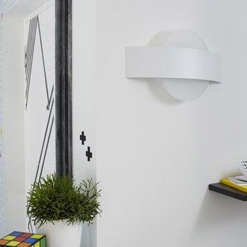 Applique Senj, 2 x 8 W, métal blanc, INSPIRE