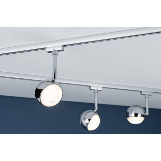 spots et suspensions pour rail led capsule m tal chrome. Black Bedroom Furniture Sets. Home Design Ideas