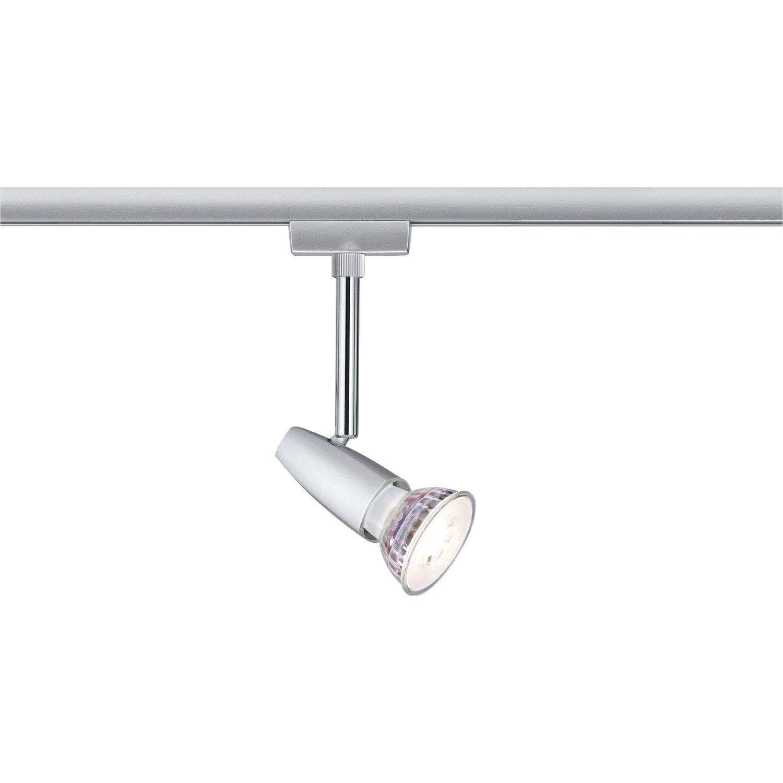 Spots et suspensions pour rail, moderne, métal chrome mat, PAULMANN
