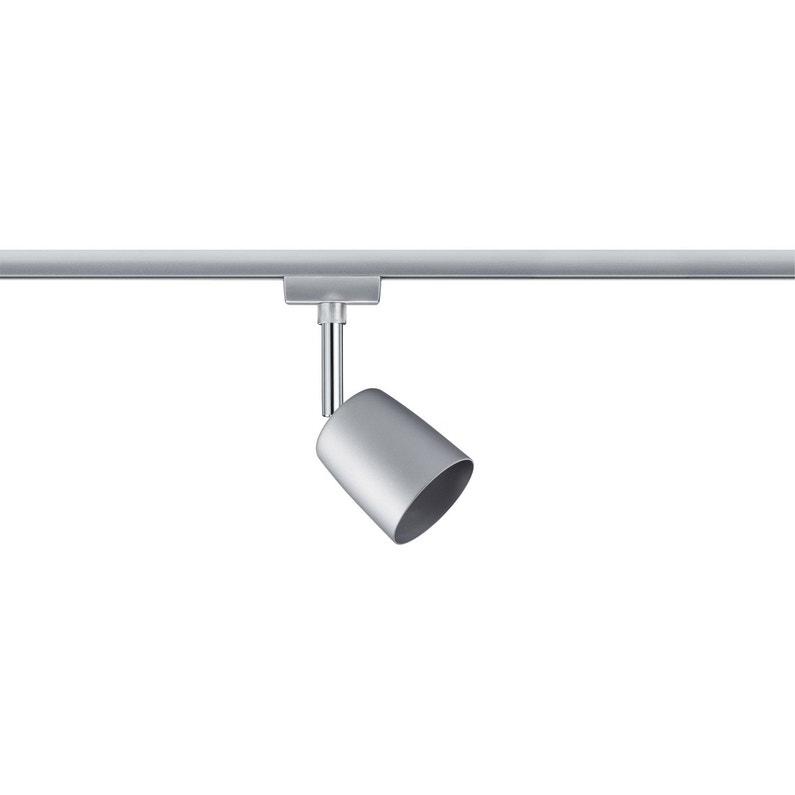 Spots Et Suspensions Pour Rail Moderne Metal Chrome Chrome Mat