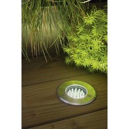 Spot à encastrer extérieur 7.5 cm acier inoxydable
