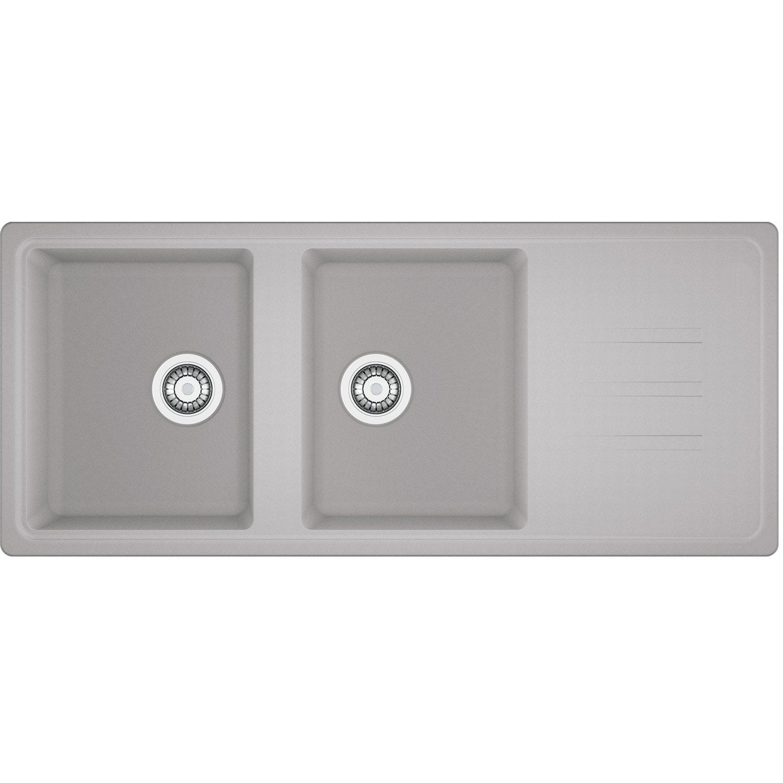 evier encastrer granit r sine gris timor210 platinum. Black Bedroom Furniture Sets. Home Design Ideas