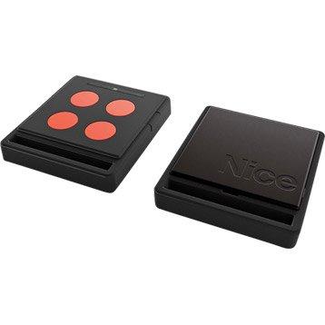 Télécommande ECCO5 noire et orange pour tout type de motorisation, NICE HOME