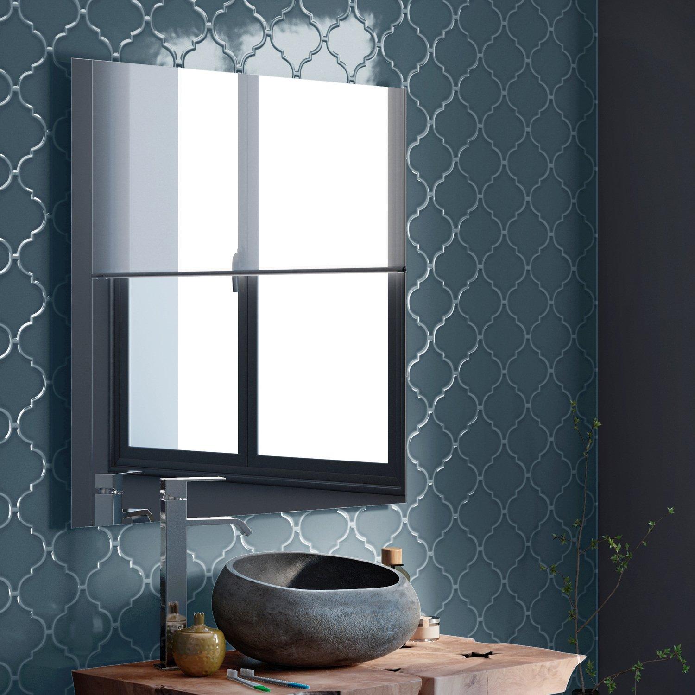Une salle de bains authentique grâce à la mosaïque bleue | Leroy Merlin