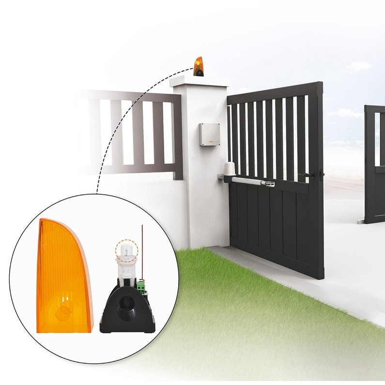 ampoule feu clignotant pour motorisation de portail scs sentinel leroy merlin. Black Bedroom Furniture Sets. Home Design Ideas