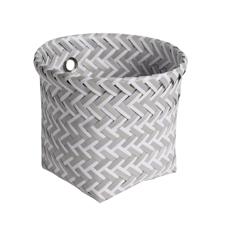 Panier en plastique blanc et gris clair, Nala
