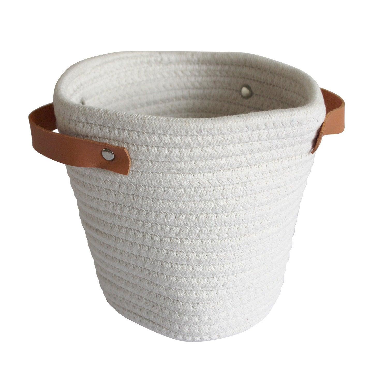 Panier en coton blanc, Cordou