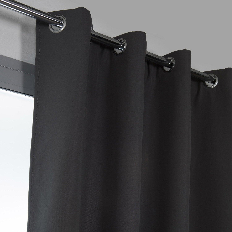 Rideau obscurcissant thermique, Stop-froid plus gris foncé l.140 x H.250 cm