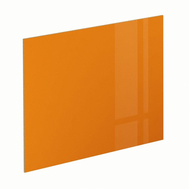 Crédence Stratifié Orange Orange 4 Brillant H 64 Cm X Ep 9 Mm X L 300 Cm