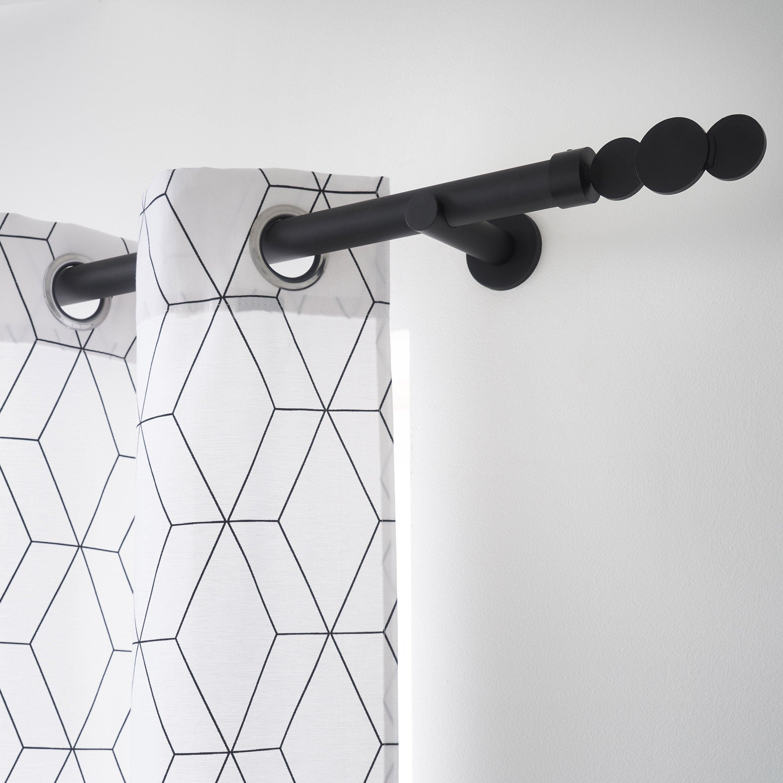 Tringle à rideau extensible Design noir mat de 200 à 360 cm INSPIRE