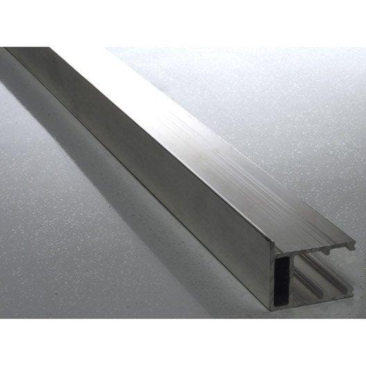 profil bordure pour plaque ep 16 mm aluminium l 4 m. Black Bedroom Furniture Sets. Home Design Ideas