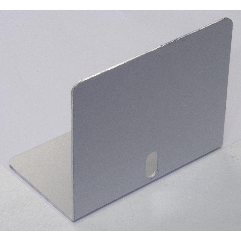 lot de 5 arr t plaques pour jonction 16 mm aluminium l m leroy merlin. Black Bedroom Furniture Sets. Home Design Ideas