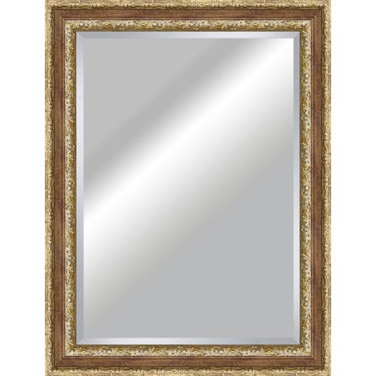 Miroir tradition rouge x cm leroy merlin for Miroir 50 x 60