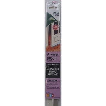 Bas de porte à visser lèvre AXTON,  L.100 cm blanc