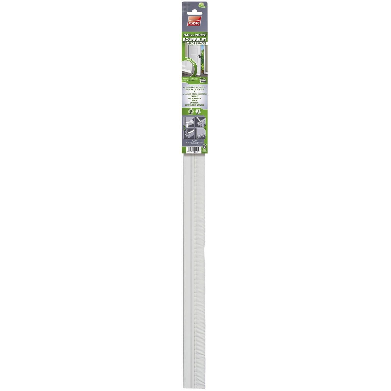 Bas De Porte Adhésif Textile (bourrelet) PLASTO, L.93 Cm Blanc