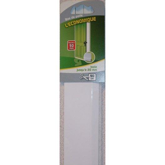 Bas de porte adh sif brosse ellen long 90 cm blanc - Bas de porte leroy merlin ...