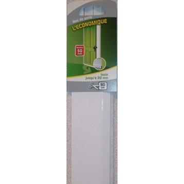 Bas de porte adhésif brosse ELLEN,  L.90 cm blanc