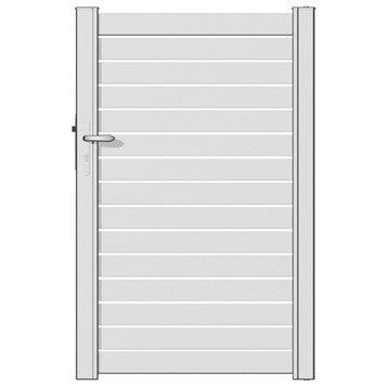 portillon battant en aluminium blanc blanc n 0 trez 100x155cm. Black Bedroom Furniture Sets. Home Design Ideas