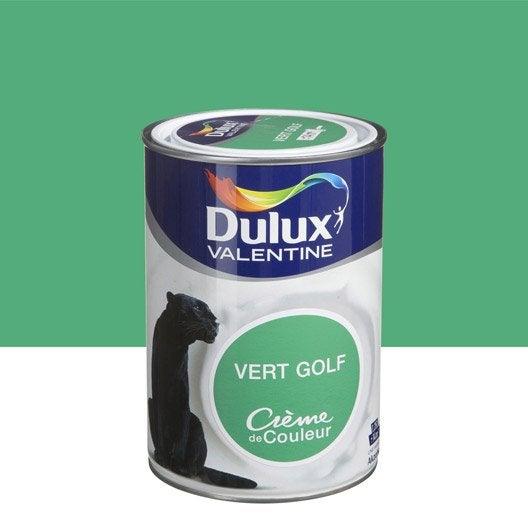 Peinture vert golf dulux valentine cr me de couleur l for Peinture vert pomme