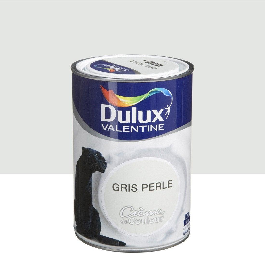 Peinture Gris Perle Satin DULUX VALENTINE Crème De Couleur 1.25 L