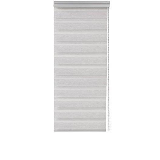 store enrouleur jour nuit coffre alu inspire gris blanc 120x210 cm leroy merlin. Black Bedroom Furniture Sets. Home Design Ideas