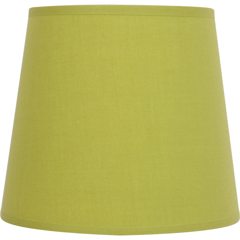 abat jour vert Abat-jour Conique, 17 cm, toiline, vert pistache n°5 INSPIRE